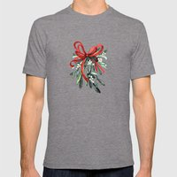 Branch Of Mistletoe Mens Fitted Tee Tri-Grey SMALL