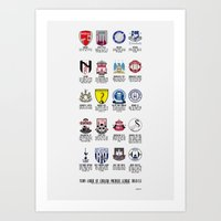 Alternate Football Teams Art Print
