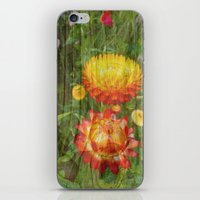 Flowers On Wood. iPhone & iPod Skin