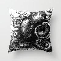 Octopus #8 Throw Pillow
