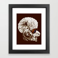 Funky Sheep Framed Art Print