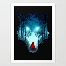 Big Bad Wolf (dark version) Art Print