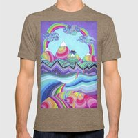 Somewhere Over The Rainb… Mens Fitted Tee Tri-Coffee SMALL