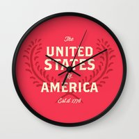 The United States Of Ame… Wall Clock