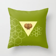 Geometric Snail Throw Pillow