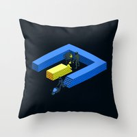 Tron Wall Throw Pillow