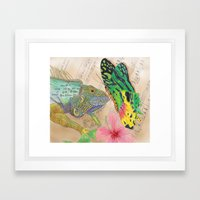 Beauty and the Butterfly Framed Art Print