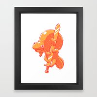Salamander's Blade Framed Art Print