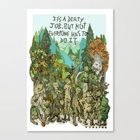 Dirty Job Canvas Print
