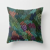 July Leaves Throw Pillow