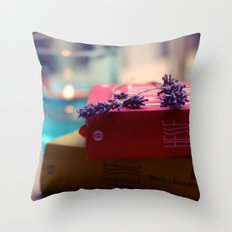 Rain, Hesse and Lavender Throw Pillow