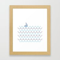 Sail Boat on Water Framed Art Print