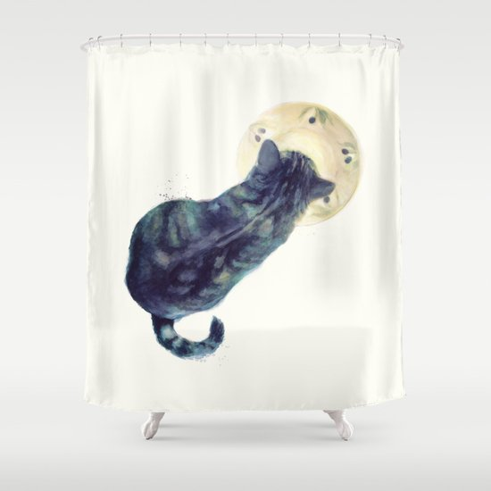 Kitten and Saucer Shower Curtain