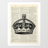 Vintage Crown  Art Print