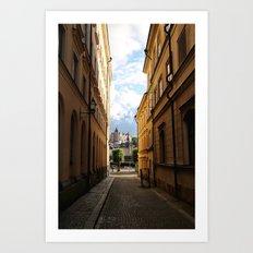 Stockholm Sunset Art Print