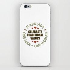 Celebrate Traditional Values iPhone & iPod Skin