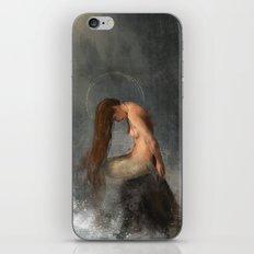 Pensive Mermaid iPhone & iPod Skin