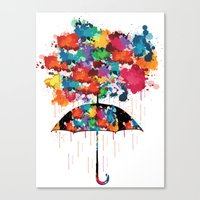 Rainbow Rainy Day Canvas Print