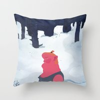 the age of curious Throw Pillow