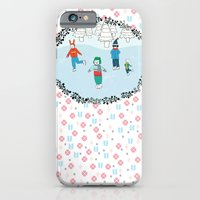 iPhone & iPod Case featuring Ice Skating Animals by Jennifer Reynolds