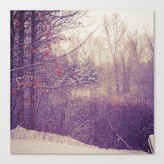 Detroit Winter Canvas Print