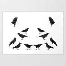 kargalar (crows) Art Print