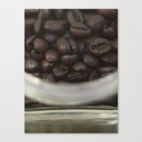 Coffee beans in glass Jar - fine art - still life - interior decoration, for bar & coffeehouse Canvas Print