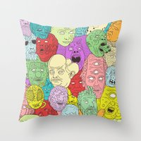 Faces of Math Throw Pillow