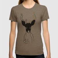 JACK OF SPADES Womens Fitted Tee Tri-Coffee SMALL