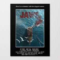 Jaws - 1975 variant Canvas Print