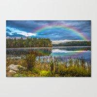 Rainbow Over The Marsh Canvas Print