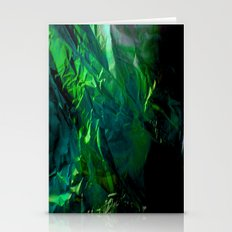 Abstract Emerald Stationery Cards