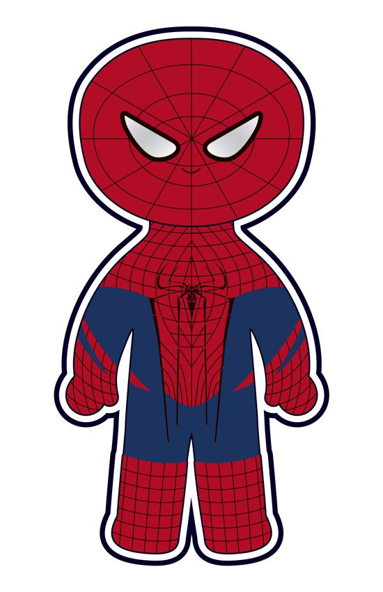 Chibi Spider-man Art Print