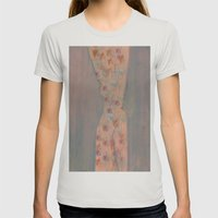 Abstract Womens Fitted Tee Silver SMALL