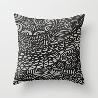Throw Pillow featuring Radiating by Renee Trudell