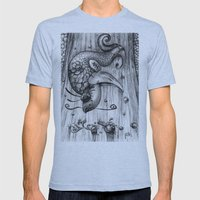 Fish Fall Mens Fitted Tee Athletic Blue SMALL