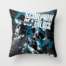SCORPIO YOGA NEGA Throw Pillow