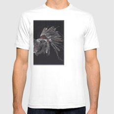 Running Bear - Updated White Mens Fitted Tee SMALL