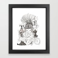 Bake. Framed Art Print