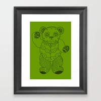 Bear Of The Day Framed Art Print