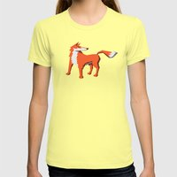 Fox Womens Fitted Tee Lemon SMALL