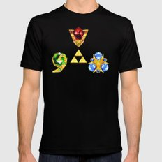 The Timeless Legend of Zelda Inspired Spiritual Stones SMALL Mens Fitted Tee Black