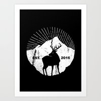 American mountain deer Art Print