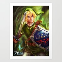 Link - Legend Of Zelda Art Print