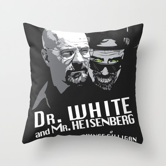 Dr. White and Mr. Heisenberg Throw Pillow