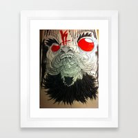 gasp Framed Art Print