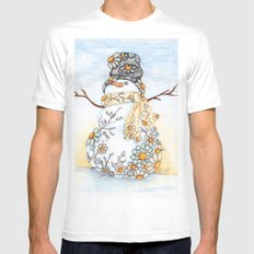 Sunrise Daisy Snowman Mens Fitted Tee White SMALL
