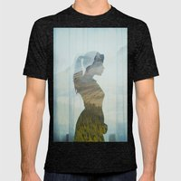 Profile. Mens Fitted Tee Tri-Black SMALL
