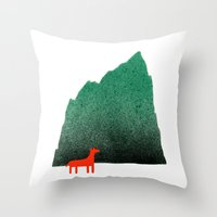 Man & Nature - Island #1 Throw Pillow