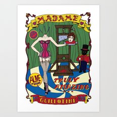 Madame Guillotine Art Print